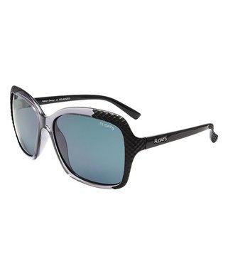 f3c8bb9e1097 Gray   Black Two-Tone Polarized Sunglasses - Women
