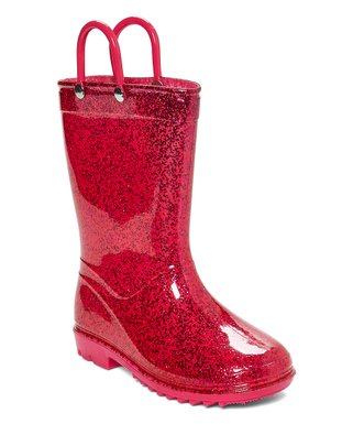 c1cf85a065802 Pink Glitter Rain Boot - Girls