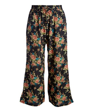 Plus Size Palazzo Pants Fascinating Patterned Flowy Pants