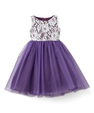 e78e9344d Purple Lace-Bodice Sleeveless Dress - Infant