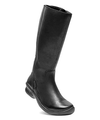8e7111db39b84 KEEN | Black Bern Baby Bern II Tall Wide-Calf Leather Boot - Women