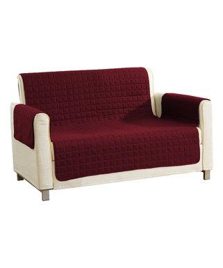 Duck River Textile   Wine Geometric Reversible Furniture Protector