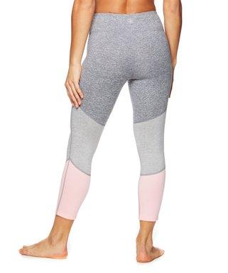 e7c5e88e637151 Gaiam | Coral Glow & Delaney Feeder Stripe Mid-Rise Capri Leggings - Women.  k