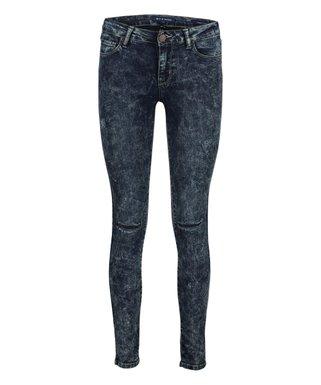 ec13bae1a Dark Blue Acid Wash Distressed Sabine Skinny Jeans - Women