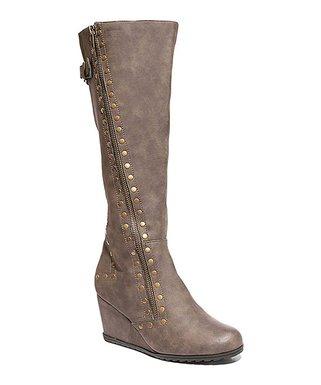 8a015c56cf73b 2 Lips Too | Brown Too Nikki Wide Calf Wedge Boot - Women