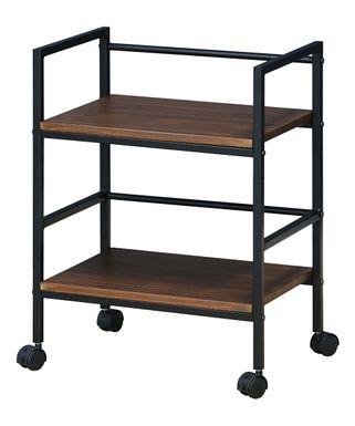 Furinno | Dark Walnut Modern Furinno Storage Cart