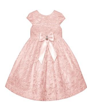 Baby Doll Pink Satin Flower Girl Dresses