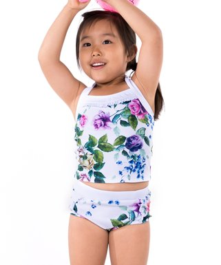 ee2e74033f Marina West | Rose & White Floral Tankini - Toddler & Girls