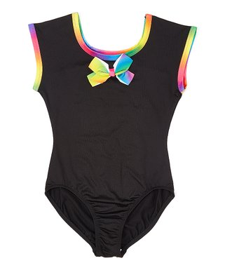 434f9c864ba JoJo Siwa Black Bow-Accent Extended-Sleeve Leotard - Toddler