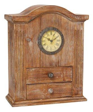 Vintage Wooden Handcrafted Desk Clock