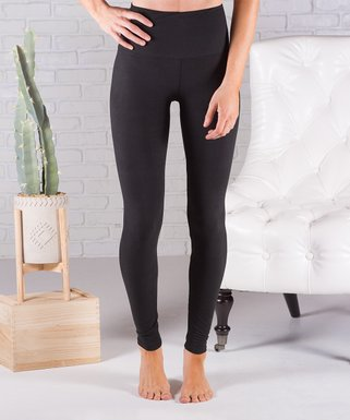 b87bb4fa534d2 Contagious | Black Ultrasoft Tummy Control High-Waist Leggings - Women