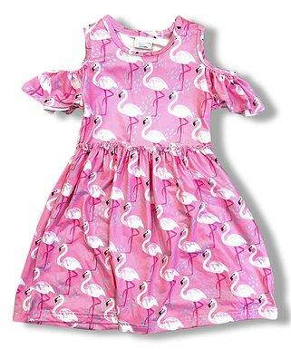 7e9e47e90 Pink Flamingo Ruffle-Sleeve Cutout Dress - Infant