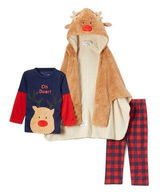 reindeer pajama set toddler boys