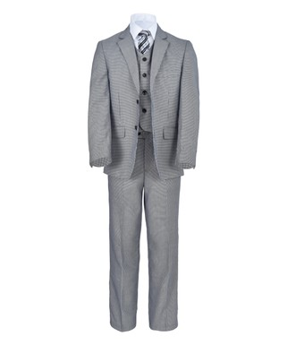 553693e28 James Morgan | Navy & White Five-Piece Suit - Boys