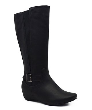c783ba32f1e6 Black Amar Wide-Calf Boot - Women