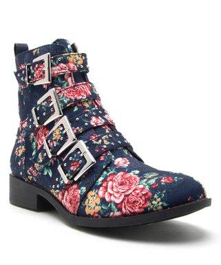 236bf493629 Blue   Pink Floral Vinci Combat Boot - Women