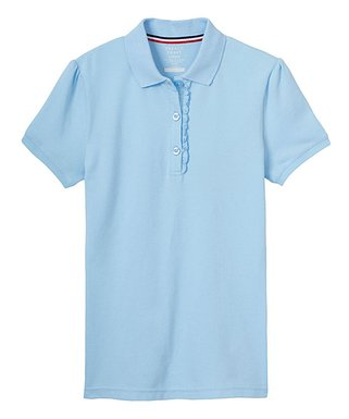 e86f94828240 Light Blue Ruffle-Accent Polo - Toddler & Girls