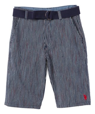 cc96a801aeea Classic Navy Stripe Belted Walking Shorts - Toddler   Boys