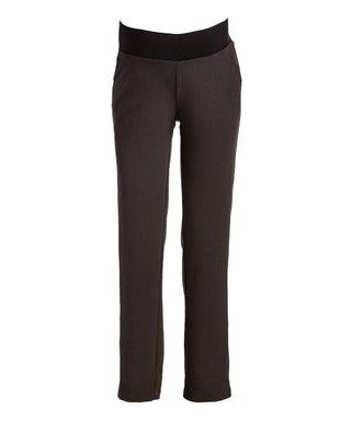 9f9301bcb0 Times 2 | Charcoal Maternity/Postpartum Dress Pants - Plus Too