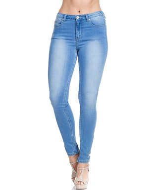 779090c5ccf6ff American Bazi   Light Blue High-Rise Skinny Jeans - Plus