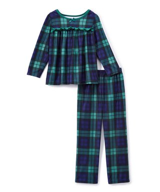 black watch plaid babydoll top pajama set infant toddler girls - Childrens Christmas Pyjamas