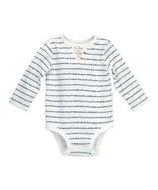 137599b6 Navy & White Stripe Organic Cotton Bodysuit - Infant
