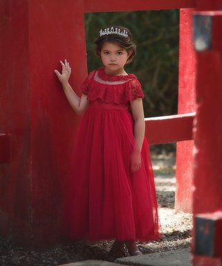 Red Giovanna Gown - Infant 62e841ae2