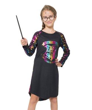 Harry Potter  Hogwarts  Crest Raglan Nightgown - Girls a4027de7c