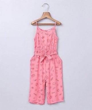 c2e5586b158 Pink Bow Waist Doodle Jumpsuit - Newborn