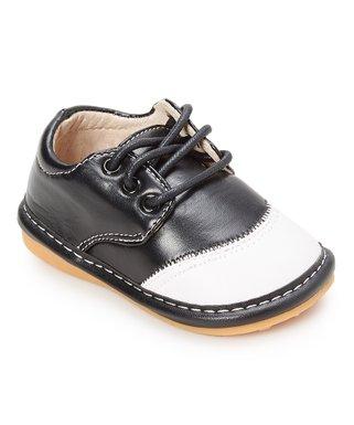06d6f4ed6eb Black   White Toe-Capped Squeaker Shoes - Boys
