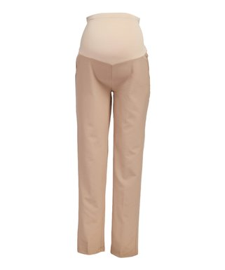 f719536658 Khaki Over-Belly Maternity Straight-Leg Pants - Plus Too