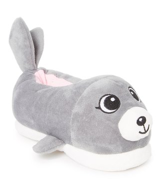 d27e24136a225 Gray Seal Plush Slipper - Kids