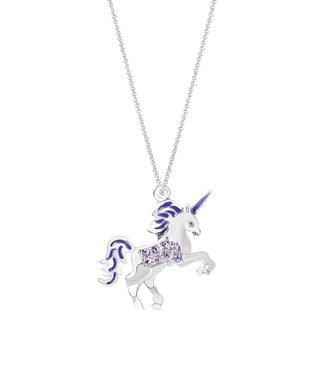 33234ba41 Purple Crystal & 14k White Gold-Plated Unicorn Pendant Necklace