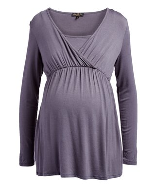 Women's Clothing Clothing, Shoes & Accessories Short Sleeve Breastfeeding Top In Fashion Purple Size 8 New