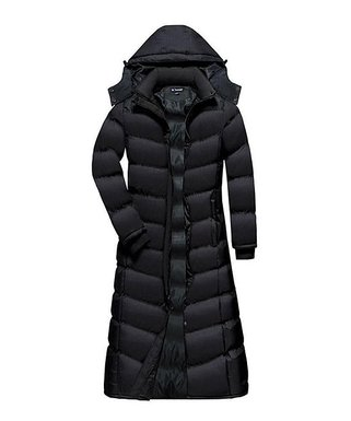 83e4f55e91f Black Full-Length Hooded Puffer Coat - Women   Plus