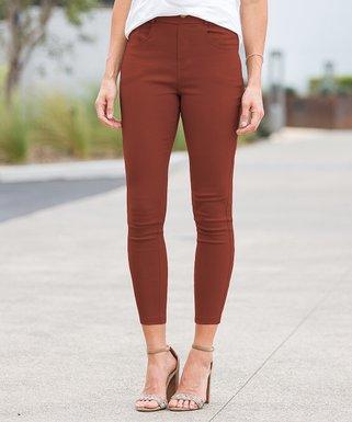 ef71ef49a79c6 Copper Crop Faux-Button Pocket Jeggings - Women   Plus