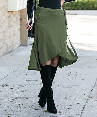 b75f75eb8 Olive Jersey Wrap Skirt - Women & Plus