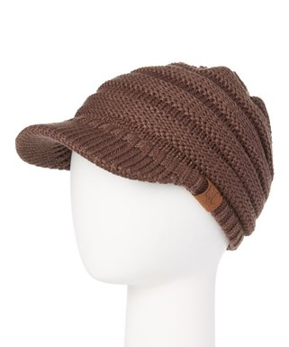 Brown Brimmed Beanie - Women ad917ea835e