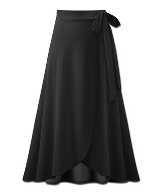 6eab5104f3d Black Tulip-Hem Wrap Maxi Skirt - Women   Plus