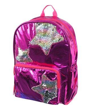 69794c33fb4 UPD | Pink & Silver Sequin Stars Backpack