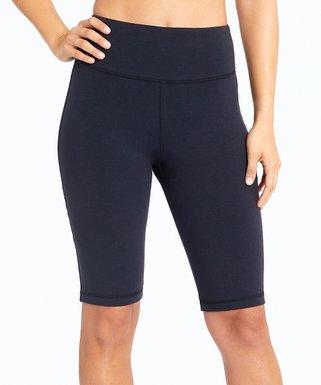 0083ed915f266 Midnight Blue Bermuda 11.5'' Tummy Control High-Waist Shorts - Women
