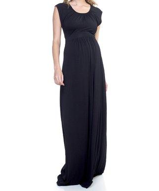 4cef206b882e4 Black Maternity Maxi Dress