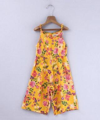 780c55215a3 Yellow Floral Jumpsuit - Newborn