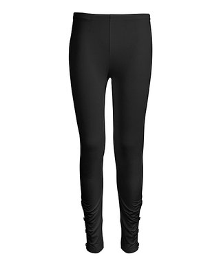 1f4a029003f87 Black Side-Button Leggings - Women & Plus