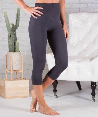 23e16af24ed Charcoal Tummy Control High-Waist Capri Leggings - Women   Plus