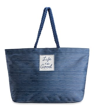 15cd8f849f5e Darkest Blue Stripe Carry-All Beach Bag