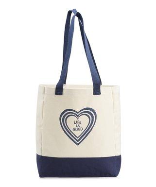 15567f302fff Natural   Navy Heart Vibes Shopper