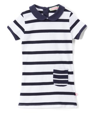 5924607a0cf4 Blue Stripe Peter Pan-Collar Tunic - Infant