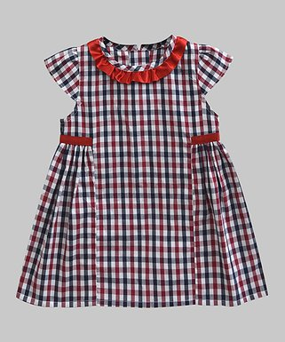 2d52a40a43b3 Blackcurrant & Berry Gingham Florence Cap-Sleeve Dress