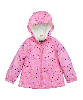 2f0f4fce5 Pink Heart Midweight Zip-Up Jacket - Infant, Toddler & Girls